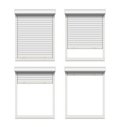 rolling shutters white metallic roller vector image