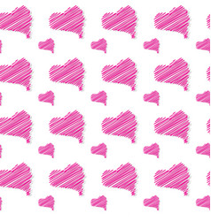 seamless pattern with heart shapes love concept vector image