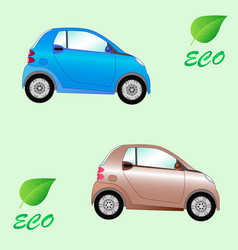 set of environmentally friendly electric cars vector image vector image
