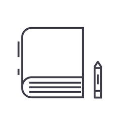 book line icon sign on vector image
