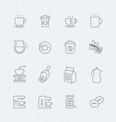 Coffee thin line symbol icon vector image