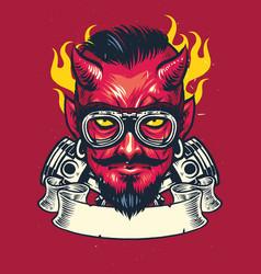 Devil rider vector