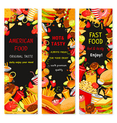 Fast food restaurant banners vector