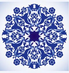 laser cut floral arabesque circle ornament vector image