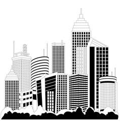 modern metropolis skyscrapers vector image
