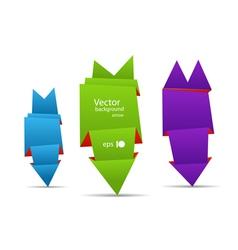 Origami arrow banners vector image