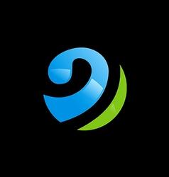 sphere globe communication logo vector image vector image