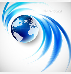 Abstract soft blue wave background vector image vector image