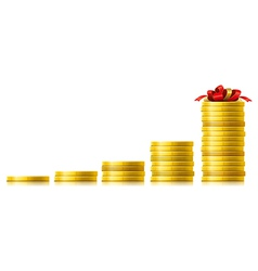 Coins growth vector image vector image