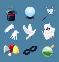 magician icons set surprise vector image