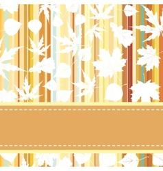 Retro pattern with autumn leafs EPS 8 vector image vector image