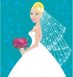 wedding gown vector image vector image