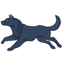 wolf running vector image vector image