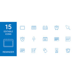 15 reminder icons vector