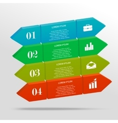 3D infographic banner vector image
