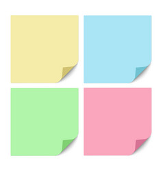 a set yellow blue green and red color square vector image