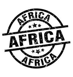 Africa black round grunge stamp vector