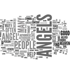 Angels in art text word cloud concept vector