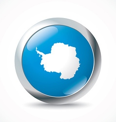 Antarctica flag button vector image