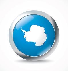Antarctica flag button vector