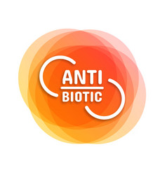antibiotic symbol vector image