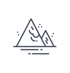 Avalanche weather icon climate forecast concept vector