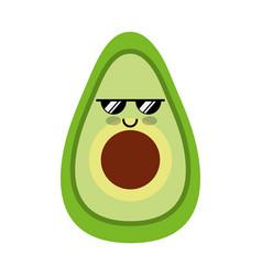 Avocado fresh vegetable kawaii character vector
