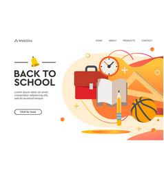 back to school concept web design page templates vector image
