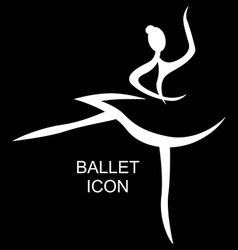 Ballet icon black vector