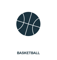 basketball icon premium style icon design ui vector image