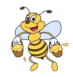 Bee is carrying honey 2 vector