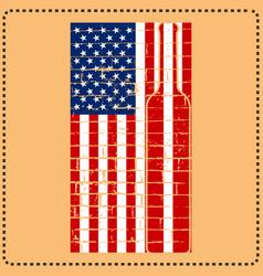 beer bottle in american flag t shirt design vector image