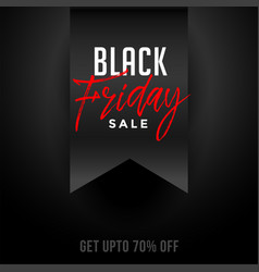 black friday festival sale and offer background vector image