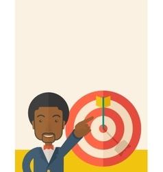 Black salesman hit the sales target vector