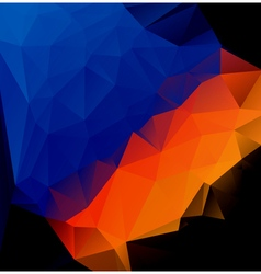 Blue orange polygonal abstract vector
