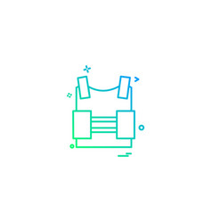 Bulletproof vest protection revolution vest icon vector