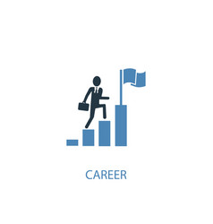 career concept 2 colored icon simple blue element vector image