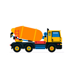 Construction machinery concrete mixer commercial vector