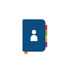contact book icon graphic design template vector image