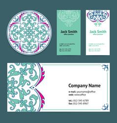 Corporative business cards design set vector