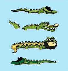 Crocodile Collection vector image