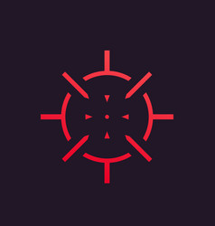 crosshair icon symbol vector image