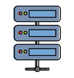 data server computer icon vector image