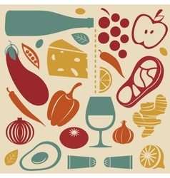 Delicious kitchen set vector image