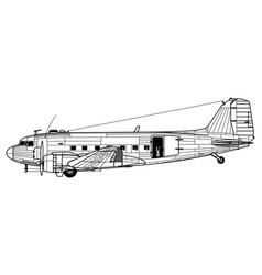 douglas ac-47 spooky vector image