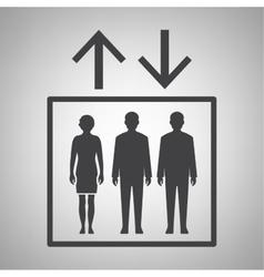 Elevator icon vector