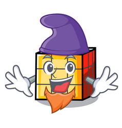 elf rubik cube character cartoon vector image