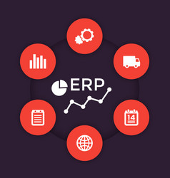 Erp software icons vector