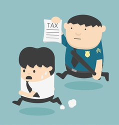 evasion tax vector image