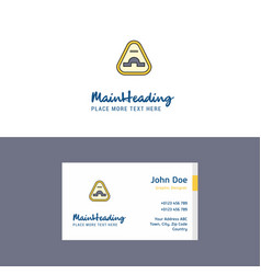 Flat jump road sign logo and visiting card vector